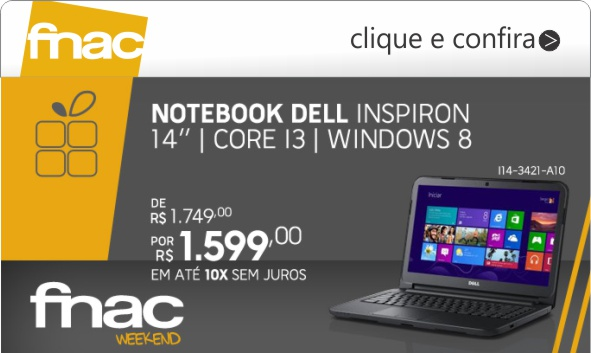 notebook dell inspiron 14 fnac com core i3