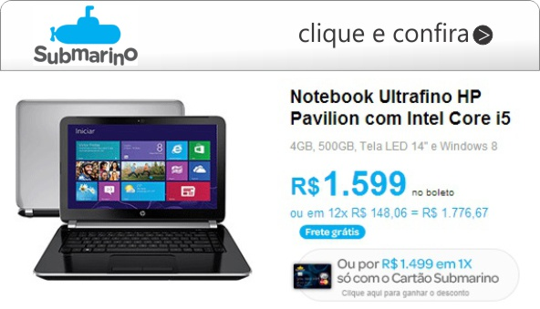 ultrafino notebook hp core i5