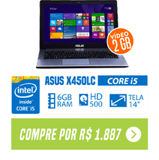 "Notebook Asus Intel Core i5 6GB 500GB 14"" Windows 8"
