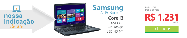 Recomendação do DIA de Notebook - samsung ativ book 2 core i3 barato preto