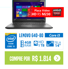 Notebook Lenovo G40-80 Core i5-5200U 4 GB 1 TB Tela 14 AMD Radeon R5 M230