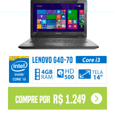 comprar NOTEBOOK LENOVO G40-70 CORE I3-4005U 4GB 500GB TELA 14