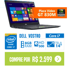 Notebook Dell Vostro V14T-5480-B50 Intel Core i7 8GB video 2GB de Memória Dedicada