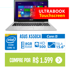 Notebook ASUS S550CA Core i5 8GB 500GB Tela LED 15 Touchscreen
