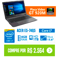 Notebook Acer Aspire E5 Core i7 - 8GB 1TB Placa de Vídeo 2GB 920M bom