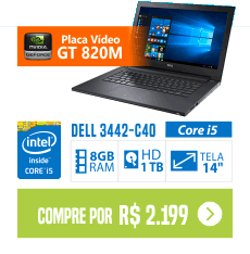 Notebook Dell Inspiron 14 i14 3442-C40 l Core i5 8GB 1TB 14 Placa de Video 820M