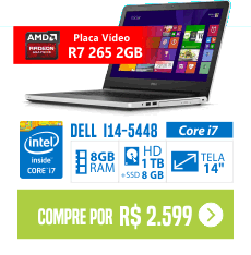 Notebook Dell Inspiron i14-5448-C25 Intel Core i7 8GB RADEON 1TB 8GB SSD