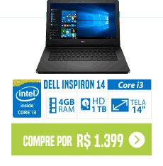Notebook Dell Inspiron i14-5458-B10 Intel Core i3 4GB 1TB 14 barato de comprar