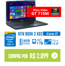 Notebook Samsung ATIV Book 2Core i7 8GB 2GB de vídeo 710m