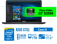 Asus notebook tela 17