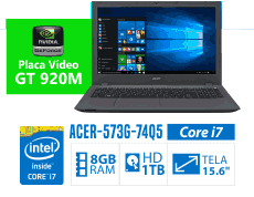 Notebook Acer Aspire E5-573G-74Q5 core i7 e 920m