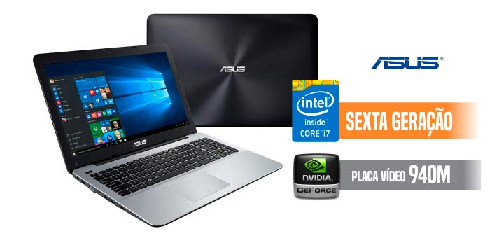 Notebook Asus Intel Core I7 8GB 1TB X555UB-XX274T