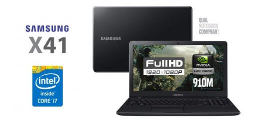 notebook Samsung X41 NP300E5K-XF3BR FULL HD