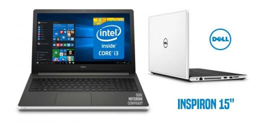 Dell Inspiron I15-5558-BB10 Core i3 e tela 15