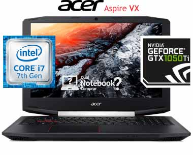 notebook Acer Aspire VX5-591G-78BF Core i7