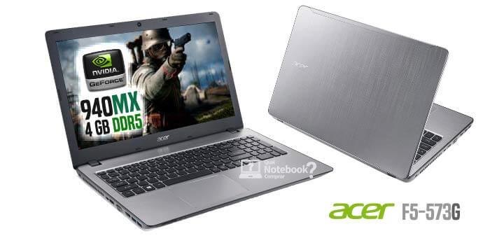 Notebook Acer F5-573G-75A3 Intel Core i7 de 7ª Geracao