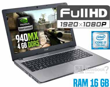 Notebook Acer F5-573G-74G4 Core i7