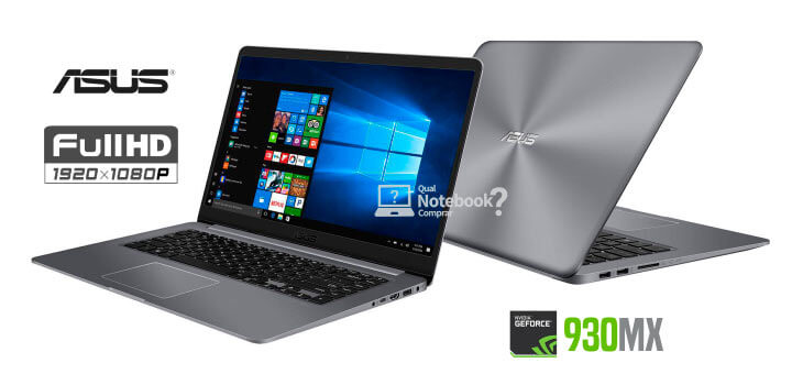 Notebook Asus Vivobook X510UR-BQ166T Intel Core i5 GeForce 930MX de 2GB