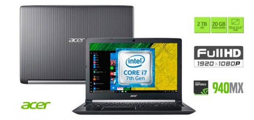 Notebook Acer A515-51G-70UP Intel core i7 20GB