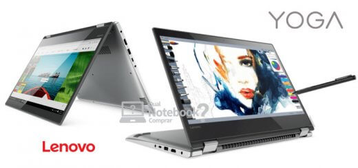 Lenovo 520 notebook touchscreen com caneta