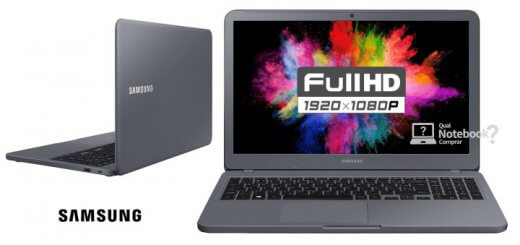 Notebook samsung 2018 cinza titanio com tela full hd