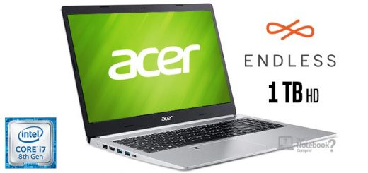 Acer Aspire 5 A515-52-72ZH i7-8565U HD 1 TB 8 GB RAM Linux Endless OS