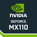 Placa de vídeo GPU dedicada NVIDIA GeForce MX110 2 GB